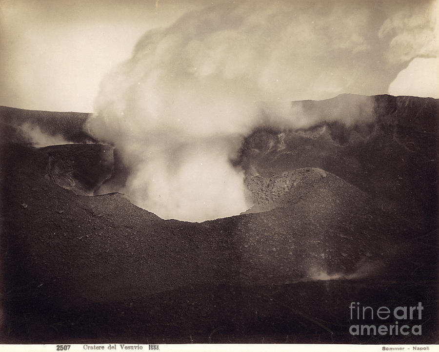 1888 Photograph - Pompeii: Vesuvius Crater by Granger