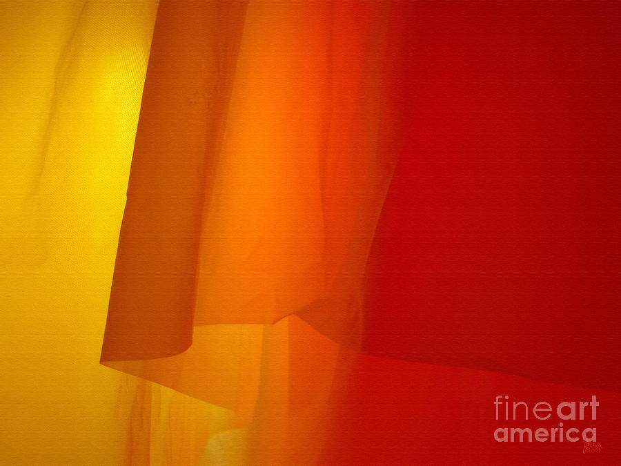 Orange Photograph - Poncho Abstract 5 by Jeff Breiman