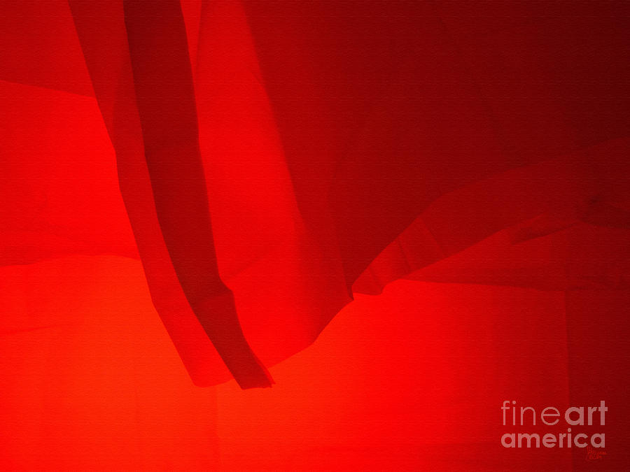 Red Photograph - Poncho Abstract 7 by Jeff Breiman