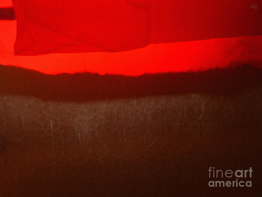 Red Photograph - Poncho Abstract8 by Jeff Breiman