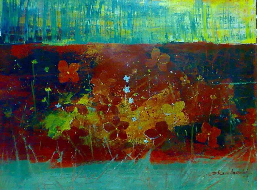 Pond 2 Painting by Shan Naqvi
