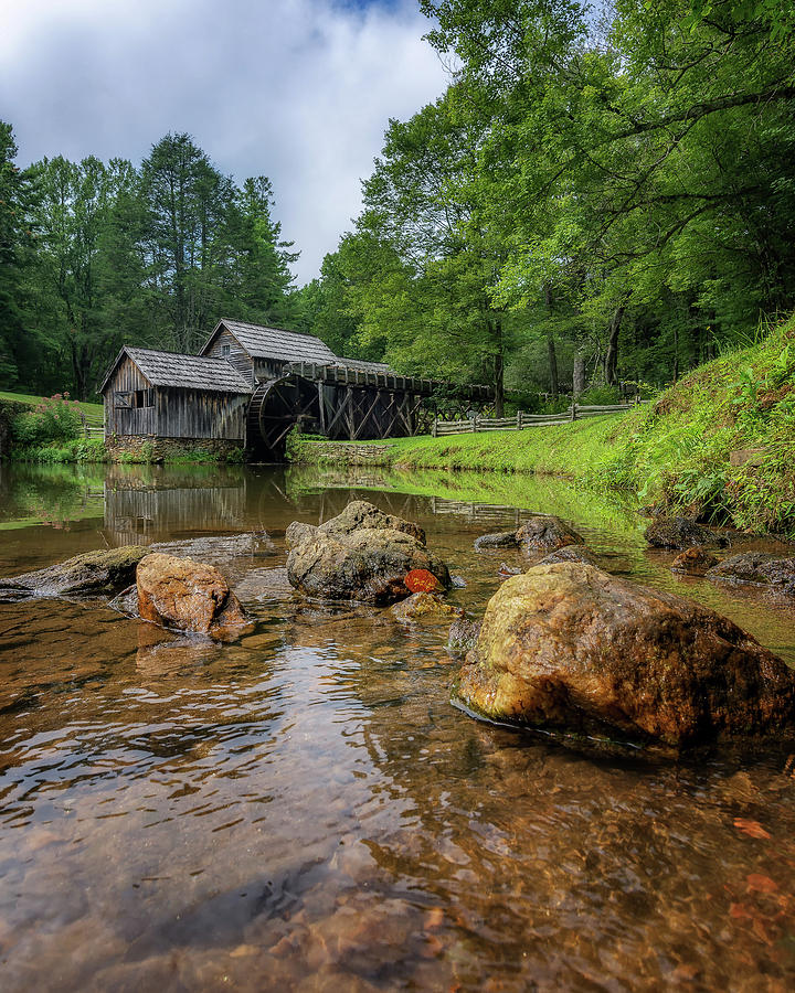 Mabry Mill Photograph - Pond At Mabry Mill by Steve Hurt