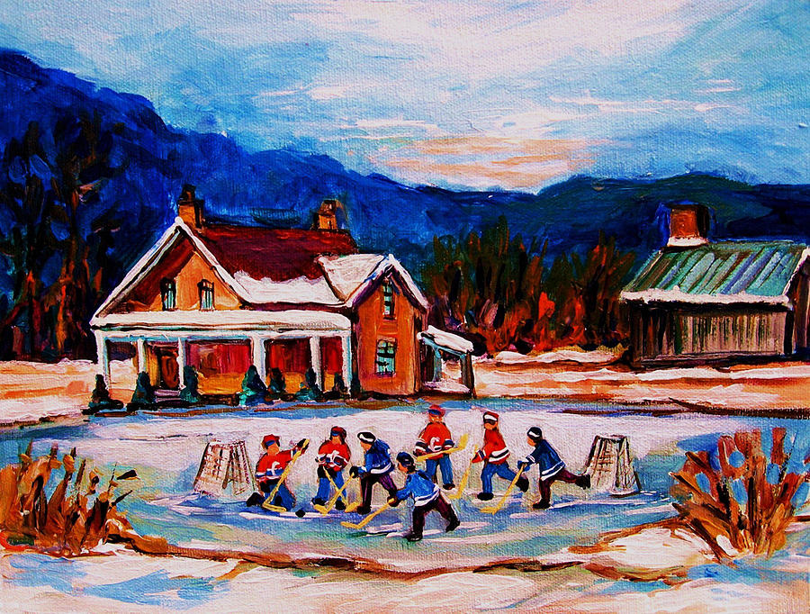 Pond Hockey by CAROLE SPANDAU