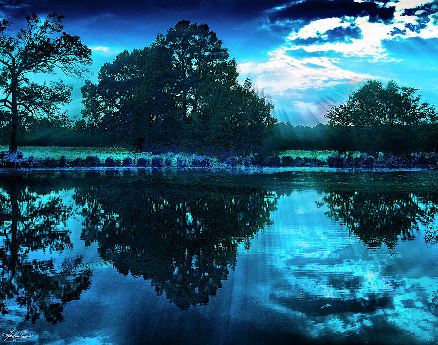 Pond In Blue Photograph