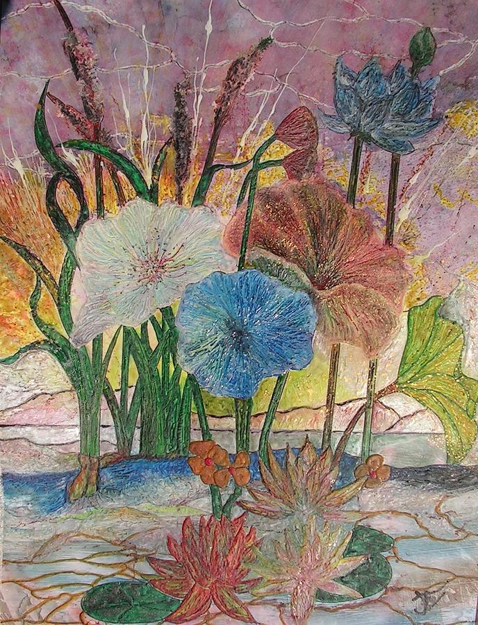 Floral Painting - Pond by John Vandebrooke