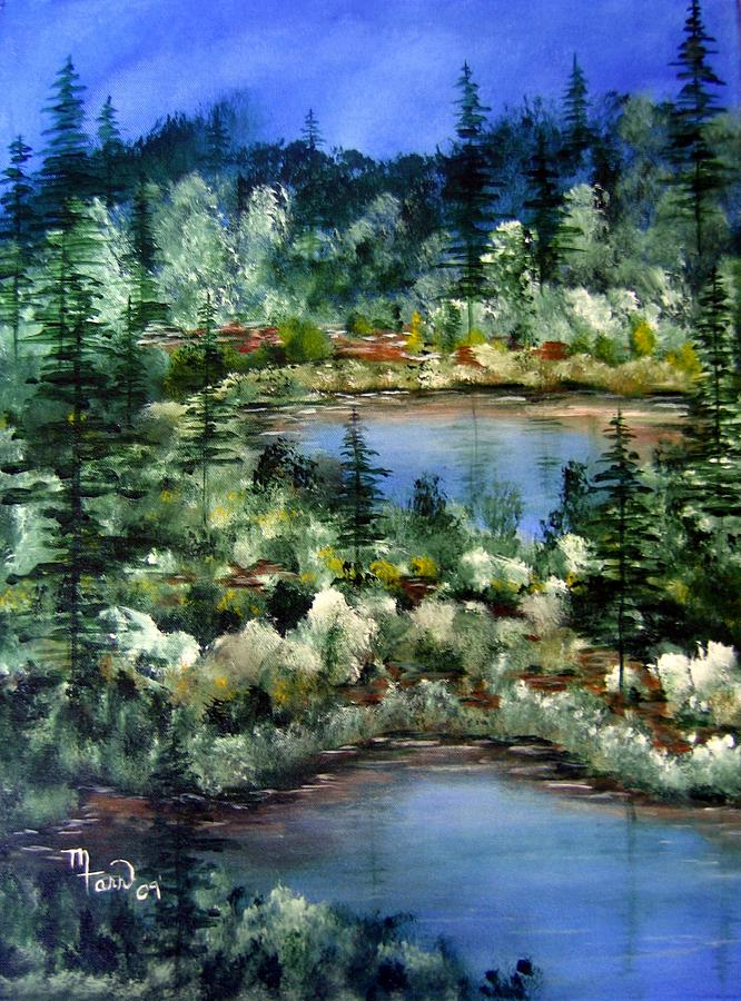 Pond Pond Painting by Mark Farr