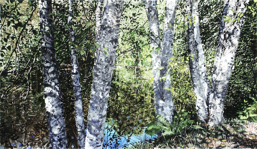Relection Painting - Pond Reflection by Perry Woodfin