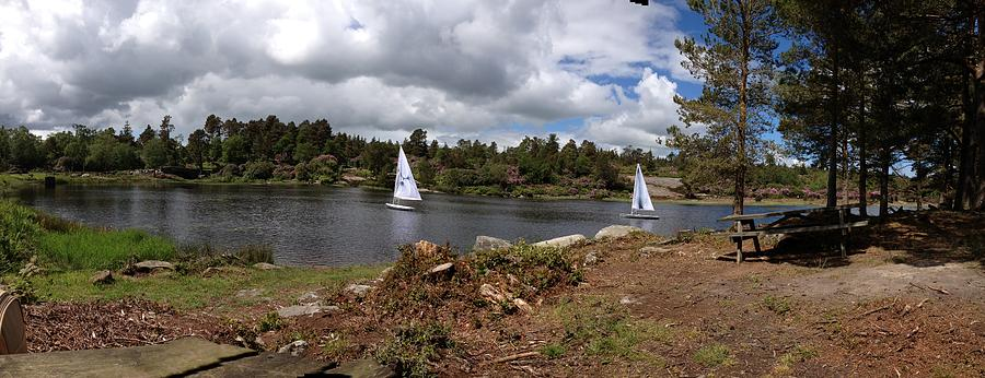 Sailing Boats Photograph - Pond View by Adam Stobbs