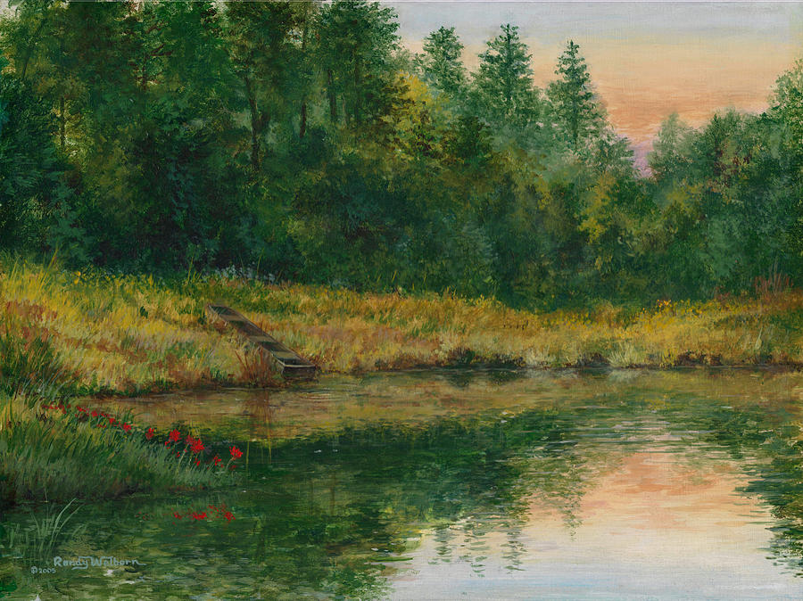 Pond with Spider Lilies by Randy Welborn