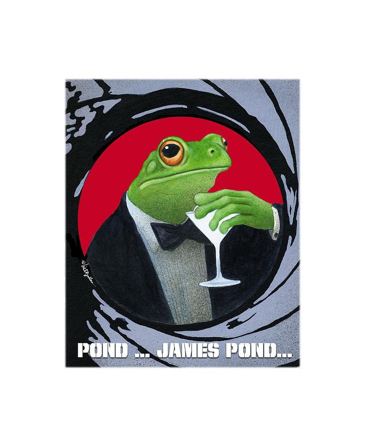 Will Bullas Painting - Pond...james Pond... by Will Bullas