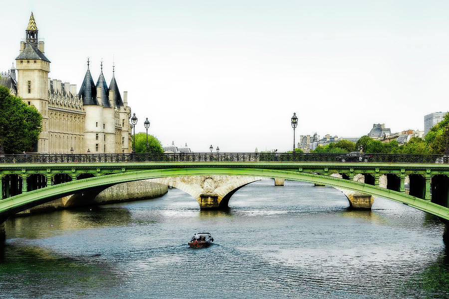 Pont Au Change Over the Seine River in Paris by Kay Brewer