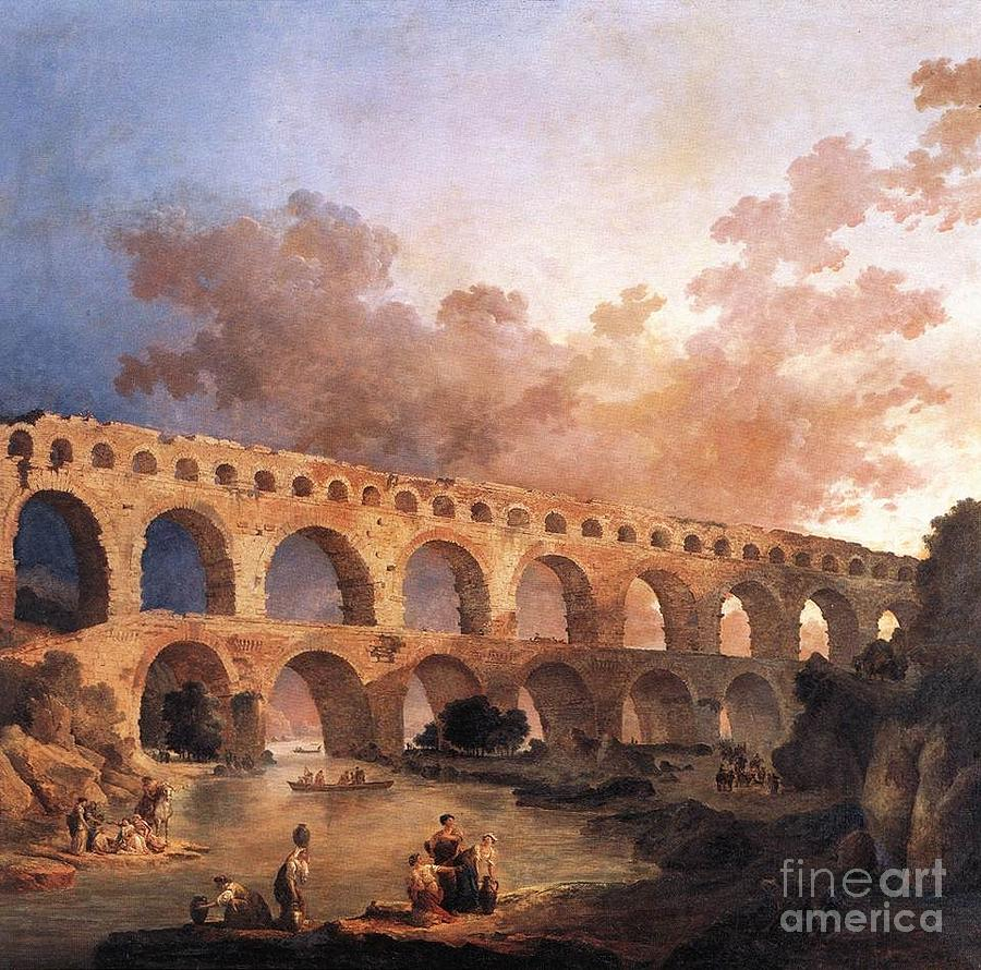 Kingdom Painting - Pont Du Gard by MotionAge Designs