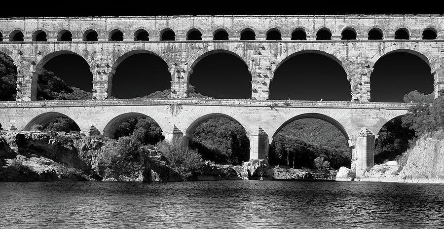 Pont du Gard Panorama by Richard Goodrich