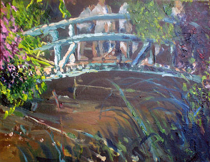Landscape Painting - Pont Japonaise At Giverny - June by Carlos Sanjurjo