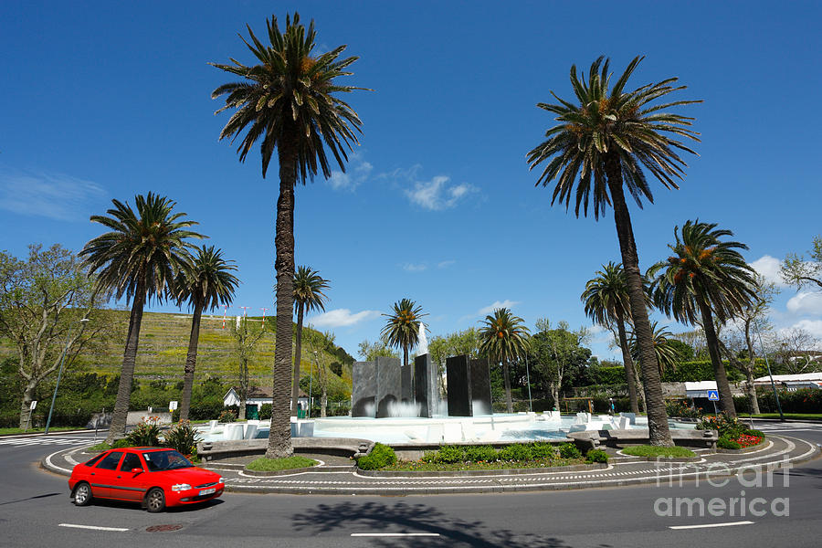 Roundabout Photograph - Ponta Delgada by Gaspar Avila