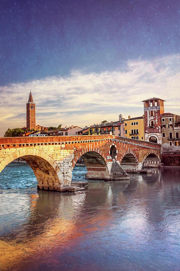Ponte Pietra Verona Italy Photograph