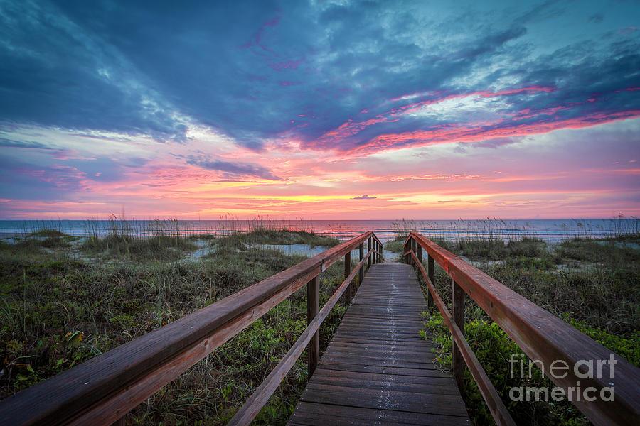 Sunrise Photograph - Ponte Verda by Mina Isaac