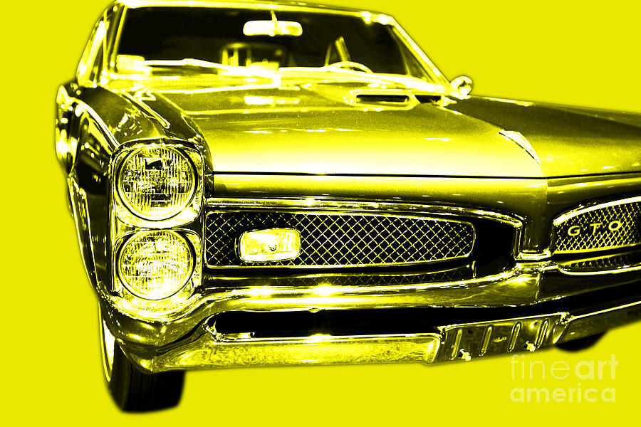 Yellow Photograph - Pontiac Gto Yellow by Wingsdomain Art and Photography