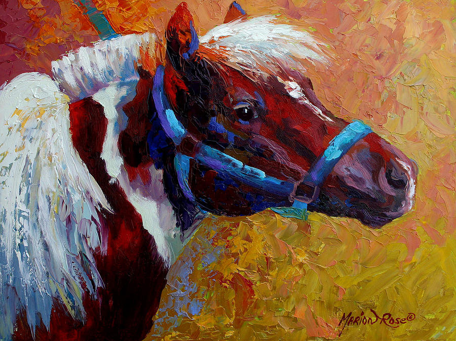 Western Painting - Pony Boy by Marion Rose