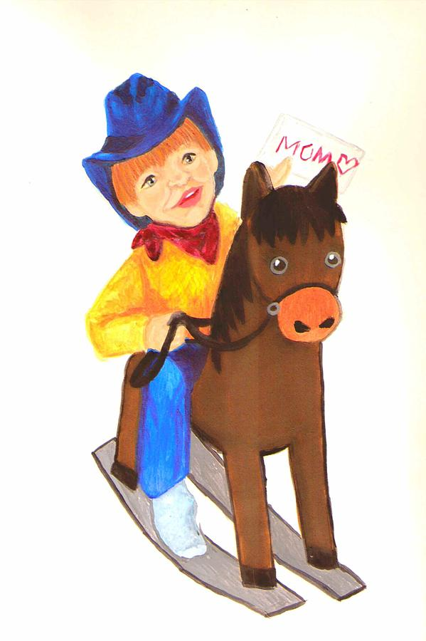 Cute Painting - Pony Express by Jeanette Lindblad