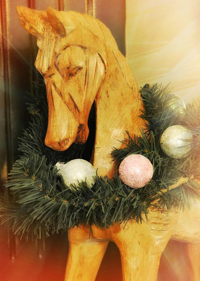 Decorate Photograph - Pony For Christmas by JAMART Photography