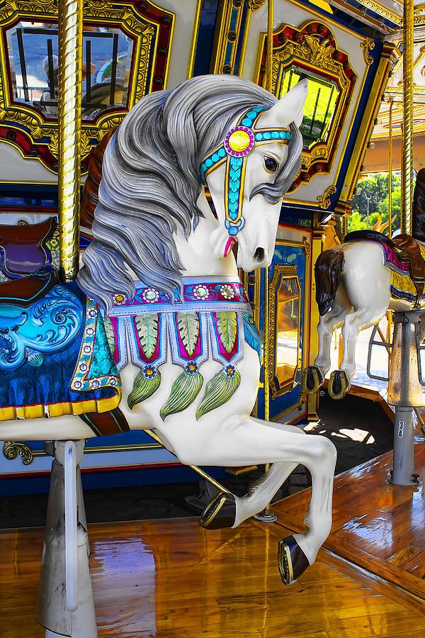 Pony Photograph - Pony Carousel - Pony Series 5 by Carlos Diaz