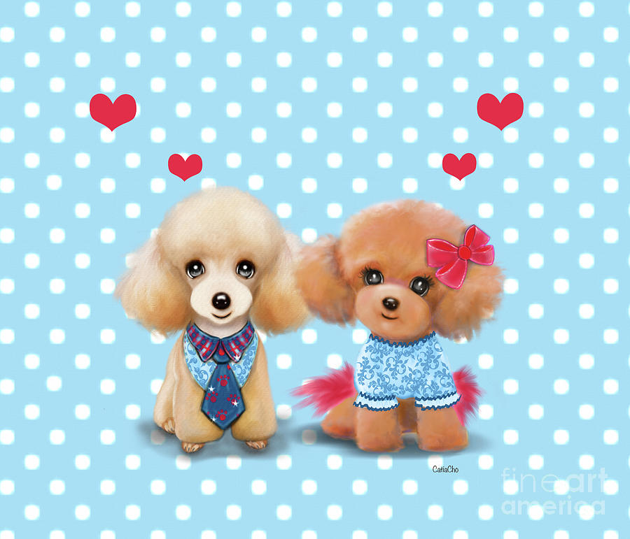 Poodles are Love by Catia Lee