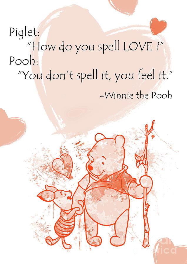 633a8c3d Pooh - Cute Quotes - Love Is..? Digital Art by Prar Kulasekara