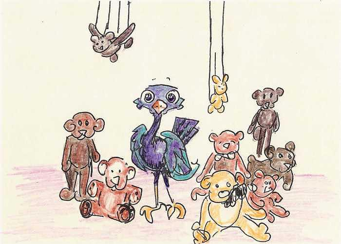 Whirlybird Drawing - Pookie The Puppet Master by Patience Tumblesome