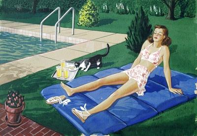 Pool Painting - Pool by Forrest  Hibbits