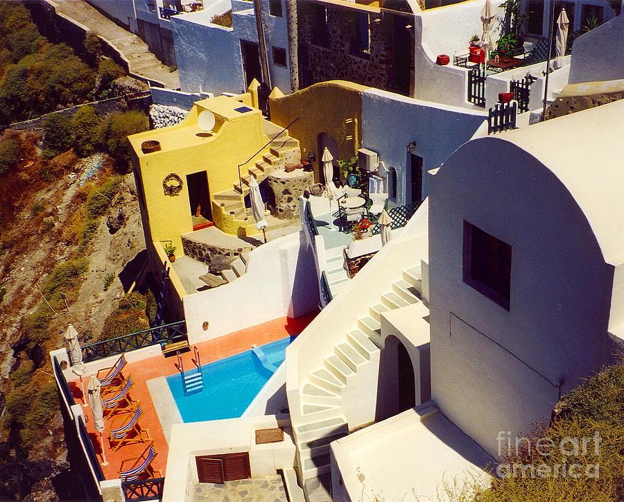 Santorini Photograph - Pool by Andrea Simon