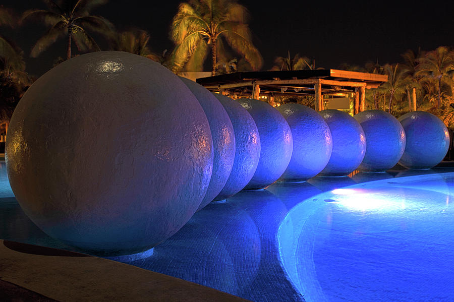 Pool Balls At Night by Shane Bechler