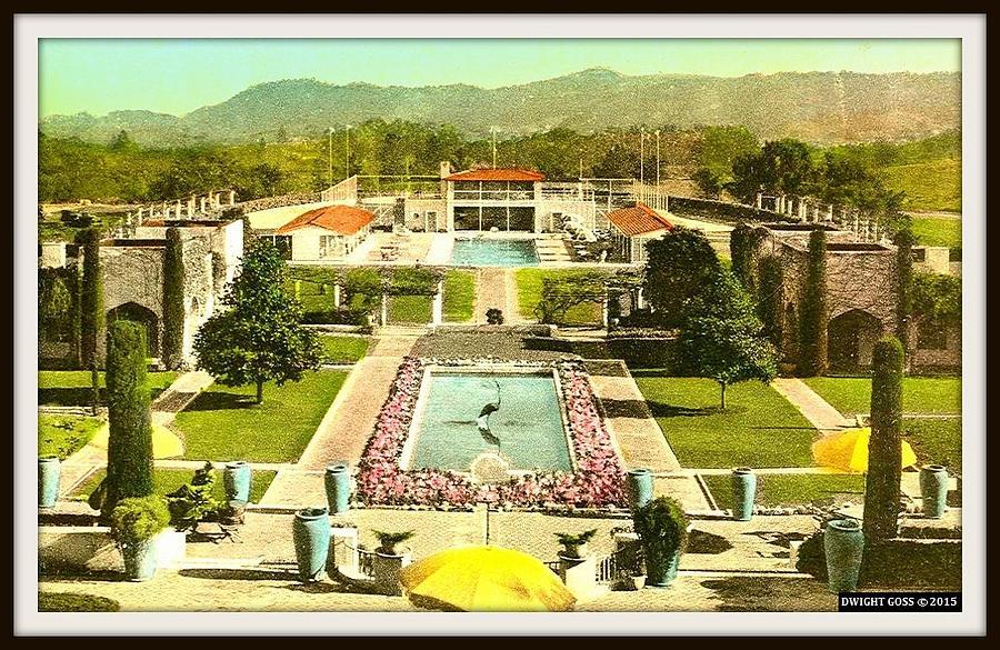 Pool, Gardens, Horse Track Of The Samarkand Persian Hotel, Santa Barbara  Ca, 1920