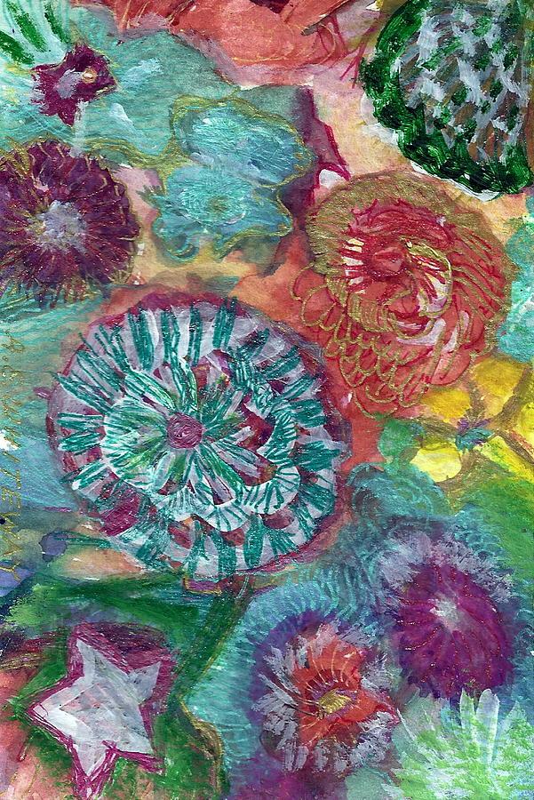 Blue Purple Painting - Pool Of Memories by Anne-Elizabeth Whiteway