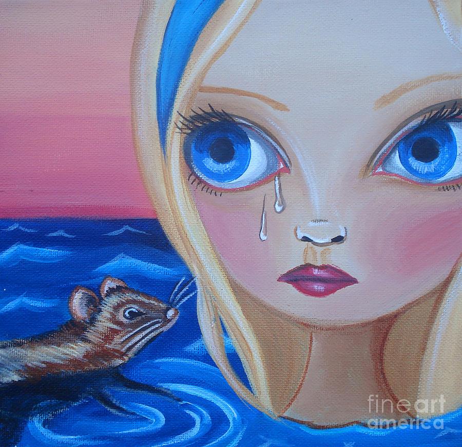 Alice In Wonderland Painting - Pool Of Tears by Jaz Higgins