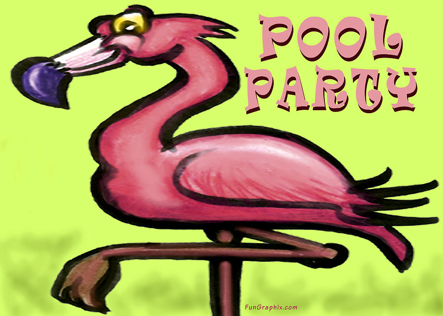 Pool Greeting Card - Pool Party by Kevin Middleton