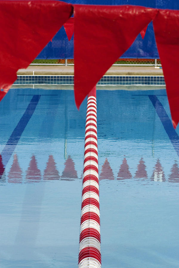 Flag Photograph - Pool by Skip Hunt