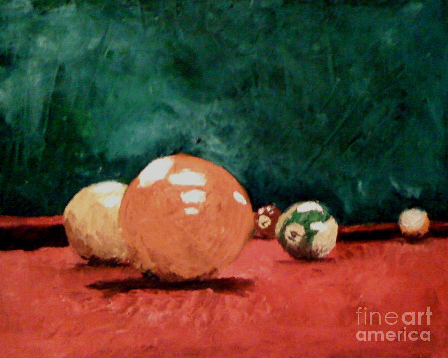 Pool Painting - Pool Table 2  by Simonne Mina