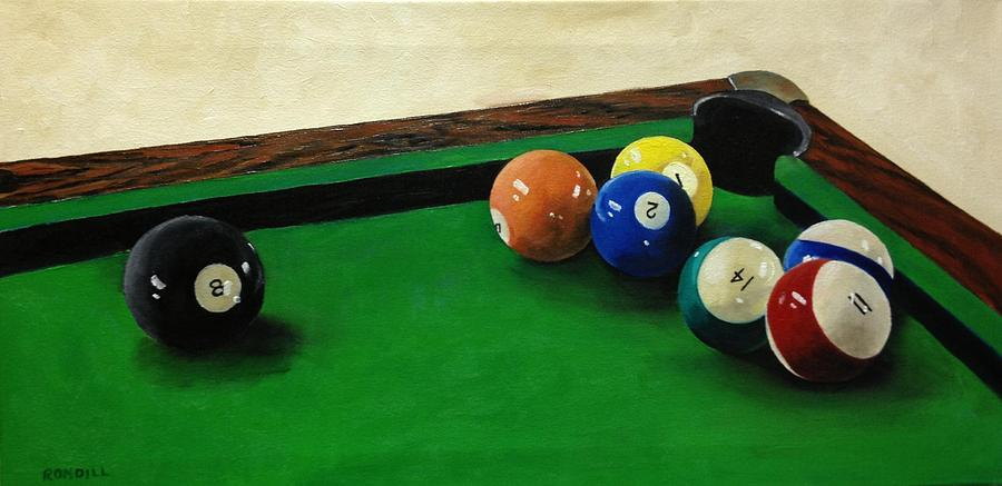 Pool Table Painting By Ronald Dill - Pool table painting