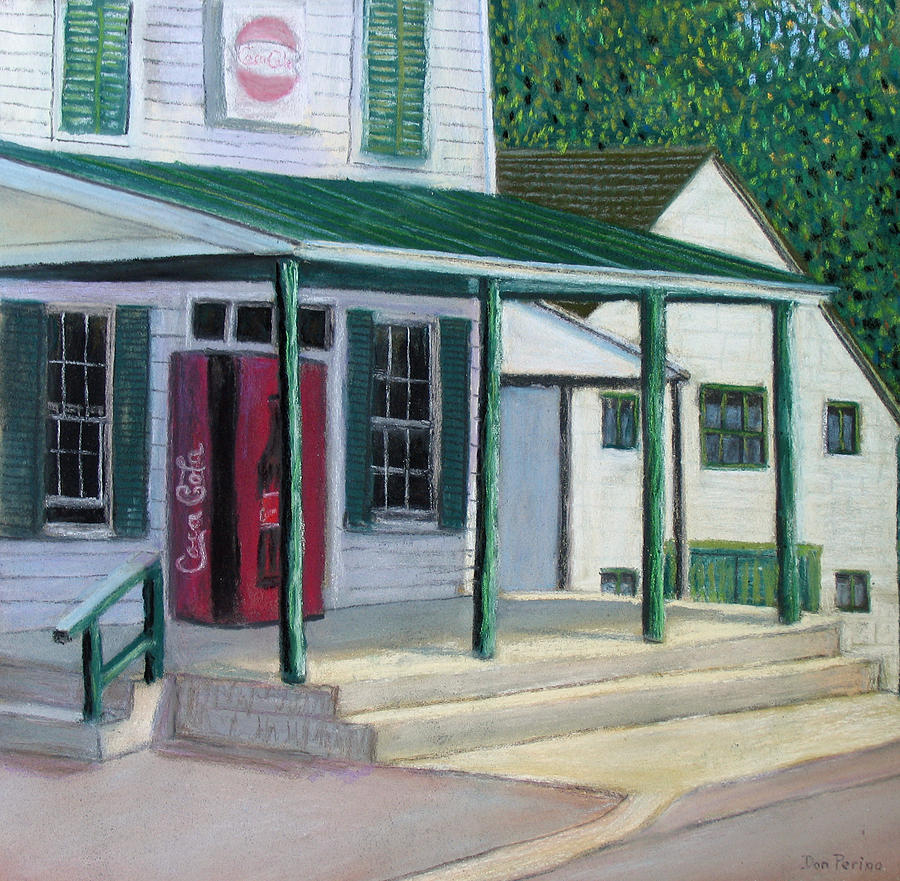 Country Store Painting - Pooles Store by Don Perino