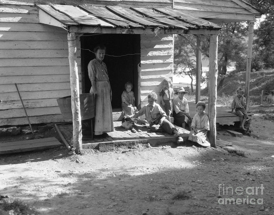 Poor Farm Family C 1930 40s Photograph By H Armstrong