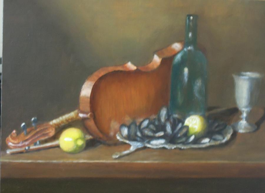 Still Life Painting - Poor Mans Caviar by Don Silvestri