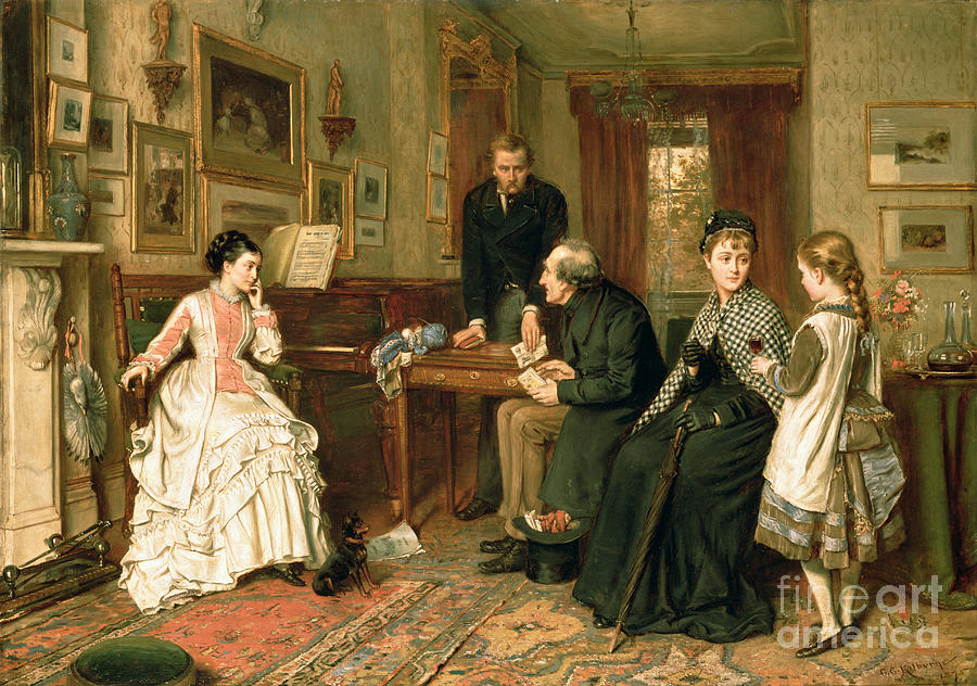 Poor Relations Painting by George Goodwin Kilburne