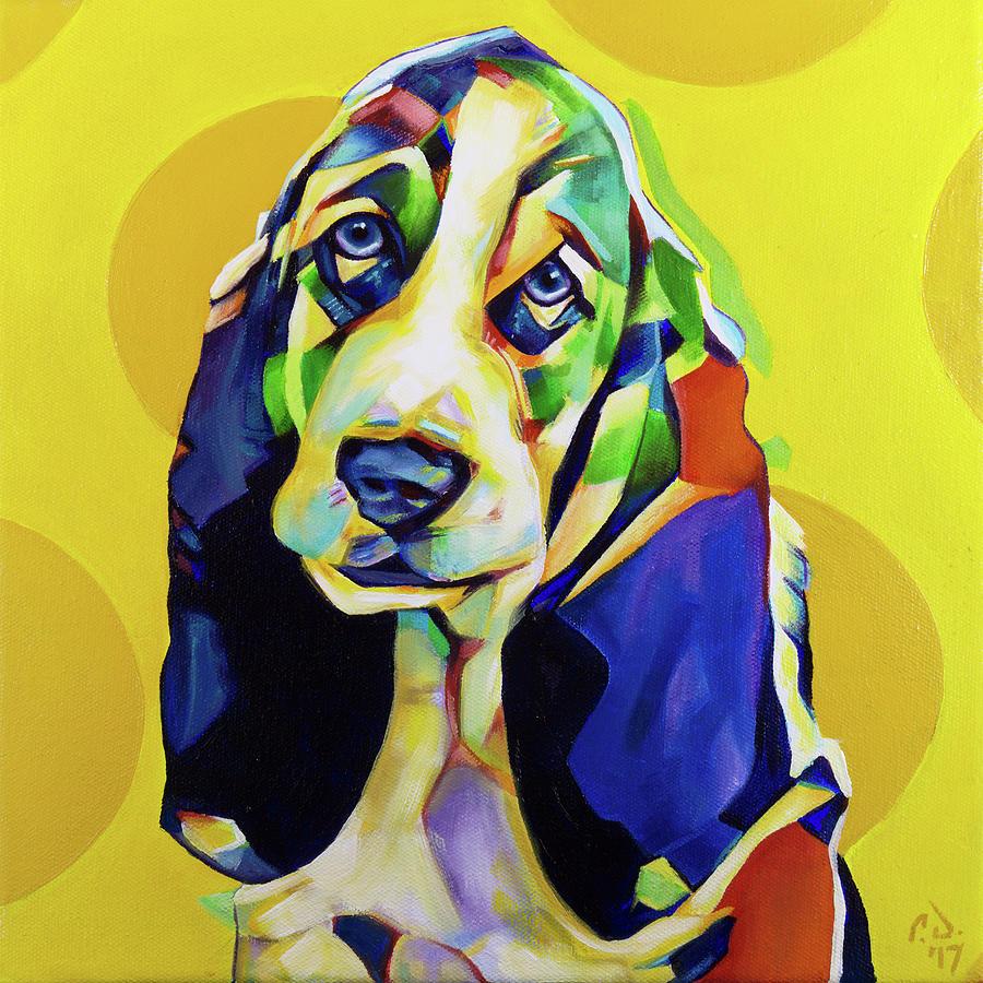 Basset Hound Painting - Pop Art Basset Hound by Cameron Dixon