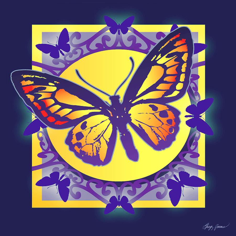 Pop Art Butterfly Digital Art by Greg Joens
