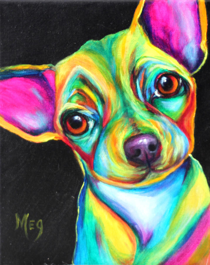 Bien-aimé Pop Art Dog.7.12 Painting by Meg Keeling XZ56