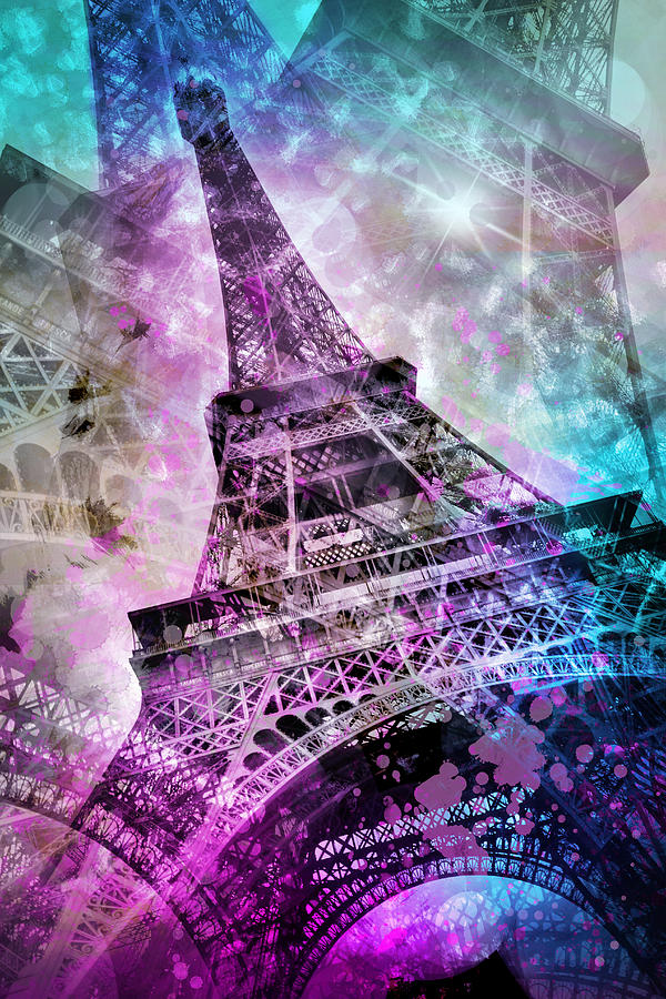 Europe Photograph - Pop Art Eiffel Tower by Melanie Viola