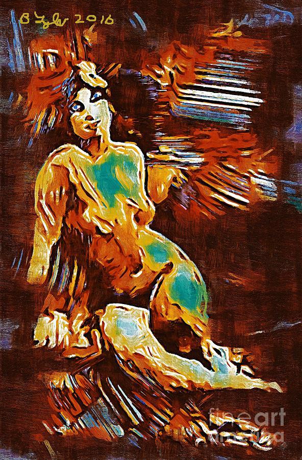 Female Painting - Pop Art Female Study 1d by B W Tyler