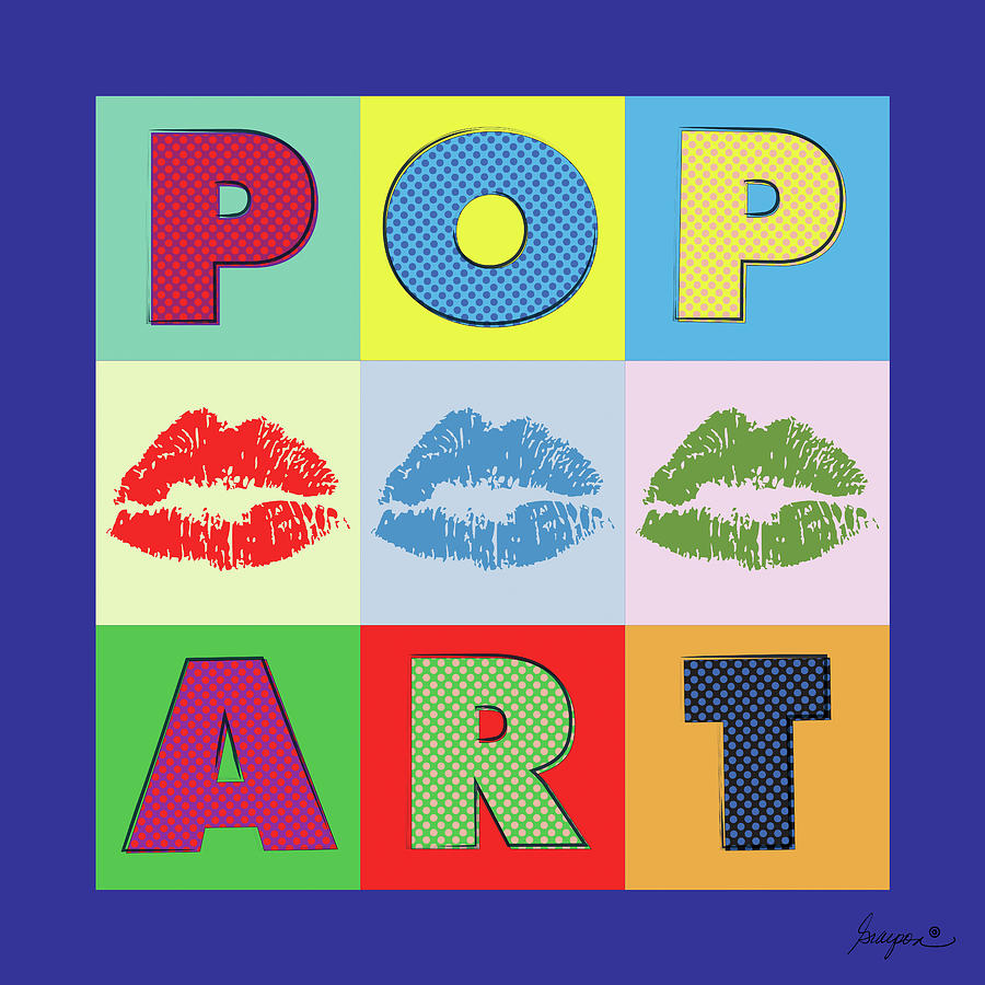 Vector Digital Art - Pop Art Lips by Gary Grayson