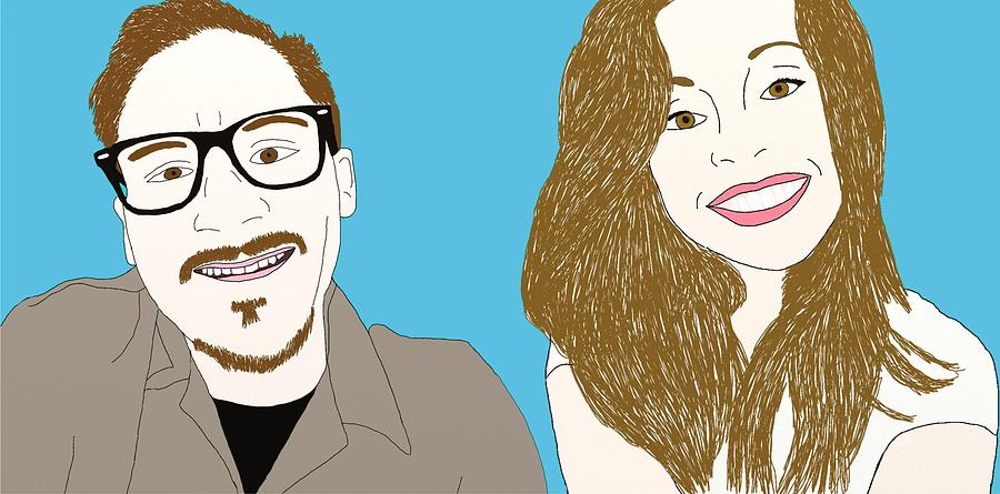 Hipster Drawing - Pop Art Pals by Priscilla Wolfe